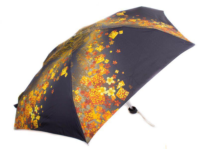 Зонт женский облегченный компактный механический ZEST (ЗЕСТ) Z55516-4, Черный