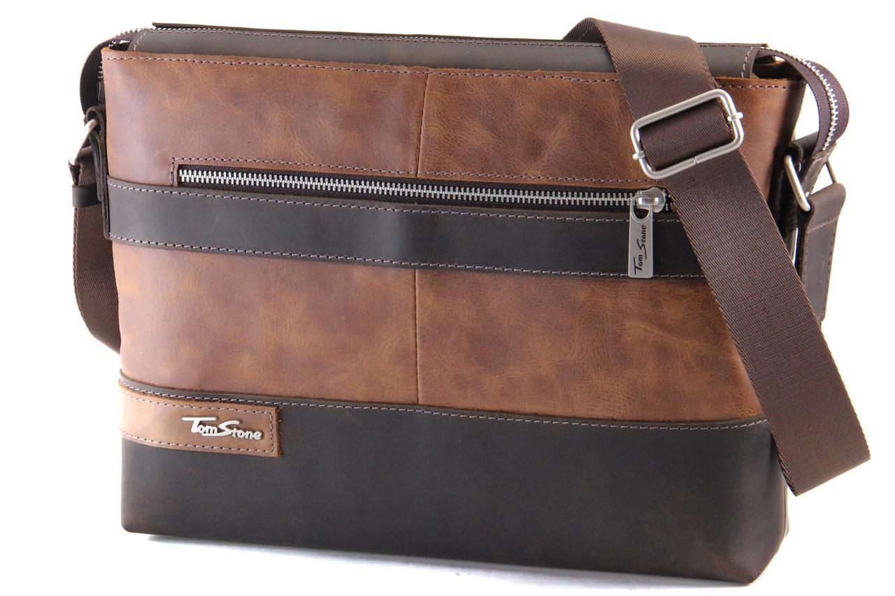Кожаная мужская сумка Tom Stone для докментов