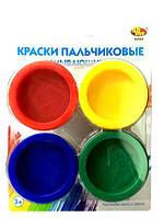 Пальчиковые краски, в банках, 4 цвета, русский, ОО-09151