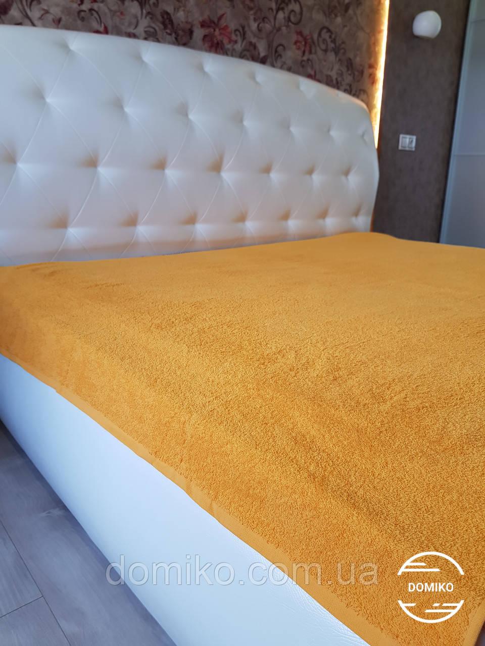 Махровая простынь 150*200 желтая Узбекистан