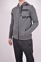 Кофта спортивная мужская (100проц. polyester) цв.серый EXUMA 471207 Размер:46