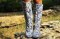 Сапоги неопрен на подкладке, на низком каблуке. Размеры: 36-42,  код 4175О
