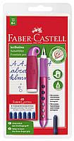 Ручка перьевая школьная Faber-Castell Scribolino для правшей, корпус ассорти + 6 картриджей, 149802