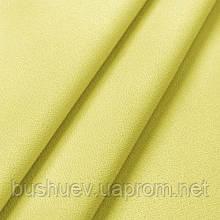Креп бистрейч однотонный Светло-желтый