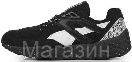 Мужские кроссовки Puma R698 Black Пума черные, фото 2