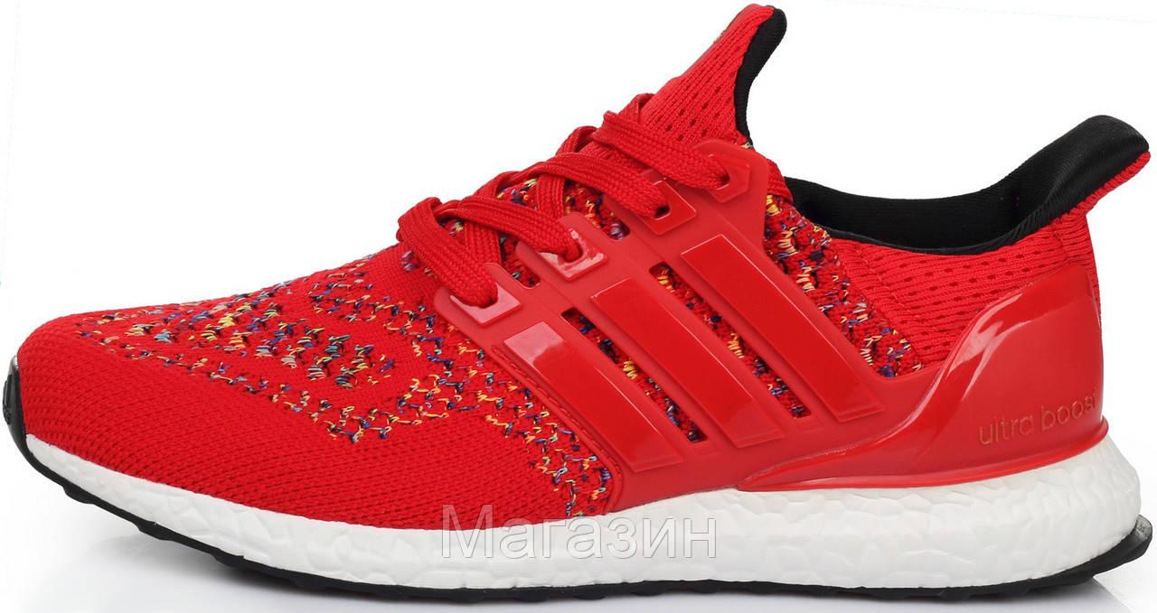 Женские кроссовки Adidas Ultra Boost Multicolor Red Адидас Ультра Буст красные