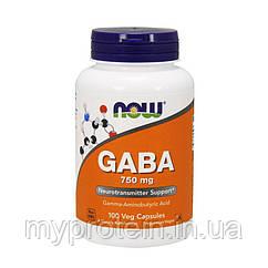 NOW Гамма аминомасляная кислота GABA 750 mg (100 veg caps)