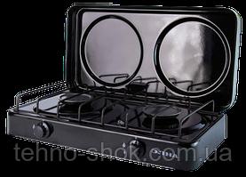 Газовая плита двухконфорочная ЭЛНА ПГ2-Н с крышкой