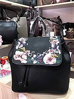 Сумка рюкзак чёрный с вышивкой