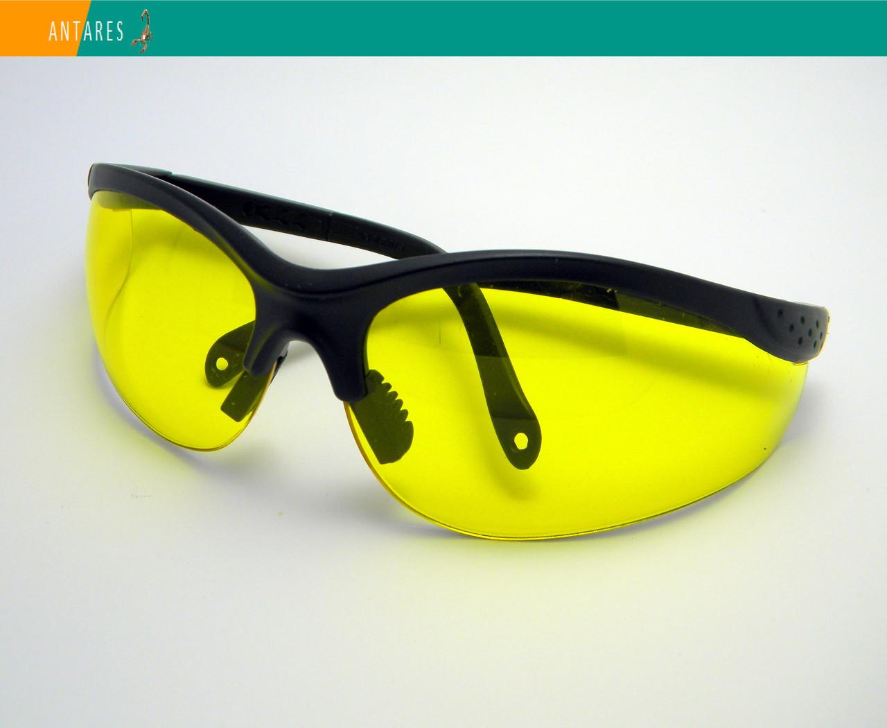 Тактические защитные очки Strelok STR-48/1 желтые регулируемые заушники