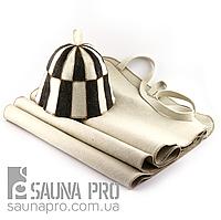 Набор для сауны светло-серый XXL, Saunapro