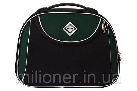 Сумка кейс саквояж Bonro Style (небольшой) черно-зеленый, фото 2