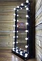 Большое зеркало с подсветкой для макияжа, черное, натуральное  дерево, фото 2