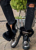 Ботинки натуральная кожа и мех женские