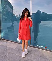 Свободное двубортное платье с плиссировкой 9031875, фото 1