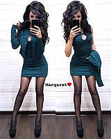 Короткое облегающее платье с жакетом 9031876