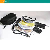 Набор тактические очки Strelok STR-59 футляр уплотнитель 5 сменных линз диоптрий резинка шнурок, фото 1