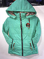 Куртка детская стеганая на девочку с капюшоном весна-осень (38-46) оптом