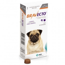 Бравекто (Bravecto), 4,5 - 10 кг - защита от клещей