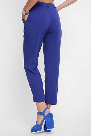 Укороченные женские брюки с карманами синее, фото 2