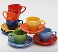 312-В 17 Набор кофейный 6 чашек+6 блюдец( 2-й сорт)