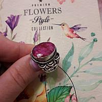 Красивое кольцо с камнем рубин 18 размер. Кольцо с природным рубином. Индия!, фото 1