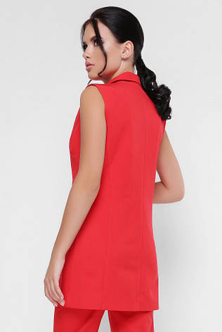 Яркий женский жилет на пуговице красный, фото 2