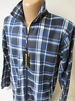 Флисовые мужские рубашки в клетку .