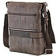 Вертикальная сумка мессенджер Tom Stone из мраморной кожи, фото 9