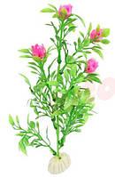 Декор для аквариума, искусственная растительность, цветы