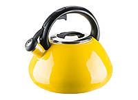 Эмалированный чайник со свистком Colorito Limone на 2,6 л Granchio VZ-88628