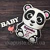 "Подушка-метрика (именная подушка) ""Панда"" для девочки"