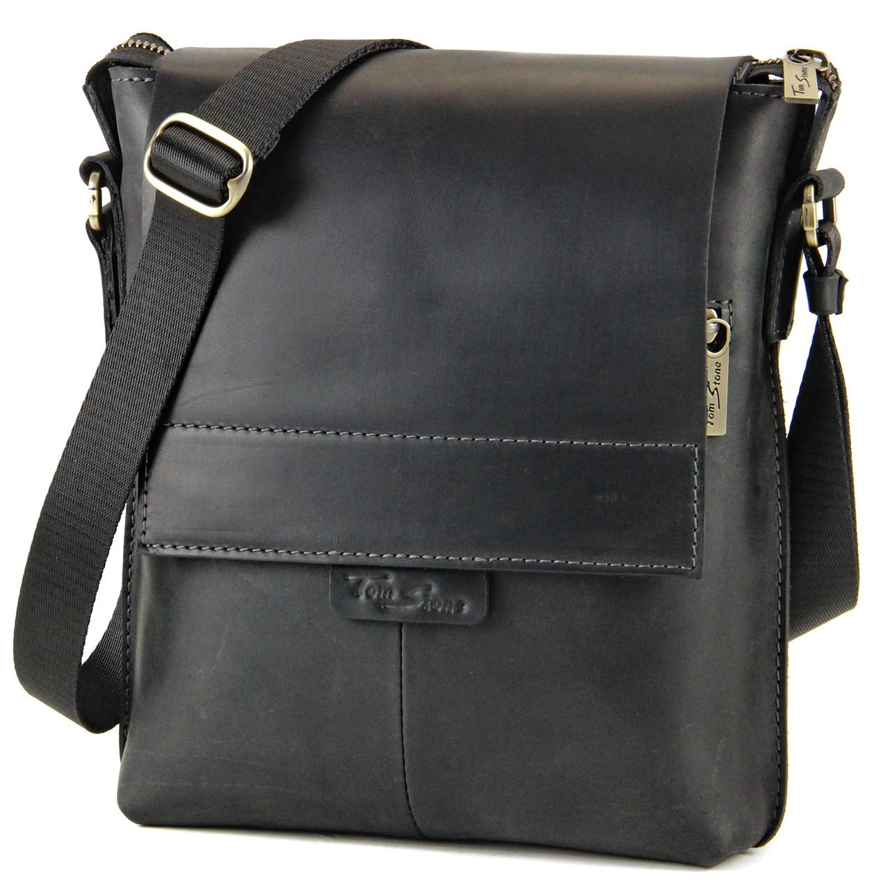 8857dcfc1240 Кожаная мужская сумка Tom Stone через плечо от интернет-магазина ...