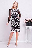 Платье Лоя-3ФСП Glem L Светло-розовый с черным