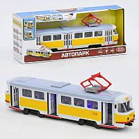 JT Трамвай 9708 В (24)  подсветка, звук, открываются двери, инерция, в коробке