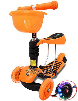 Трехколесный Самокат/Беговел Scooter Simple - 3в1, фото 2
