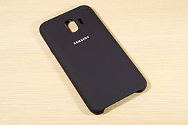 Оригинальный чехол для Samsung Galaxy J4 2018 j400 Silicone Cover (Темно-синий)