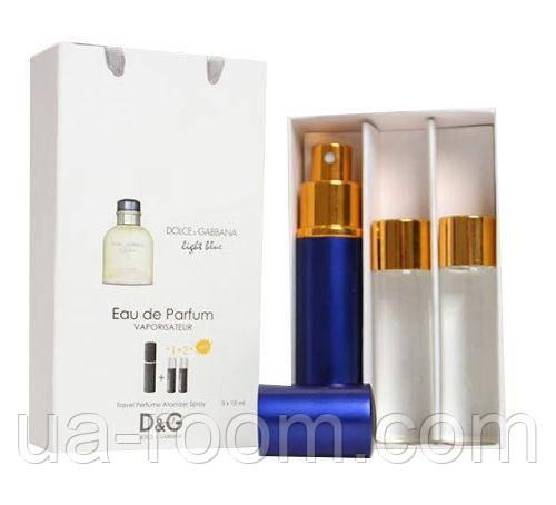 Мини-парфюм мужской Dolce&Gabbana Light Blue, 3х15 мл, фото 2