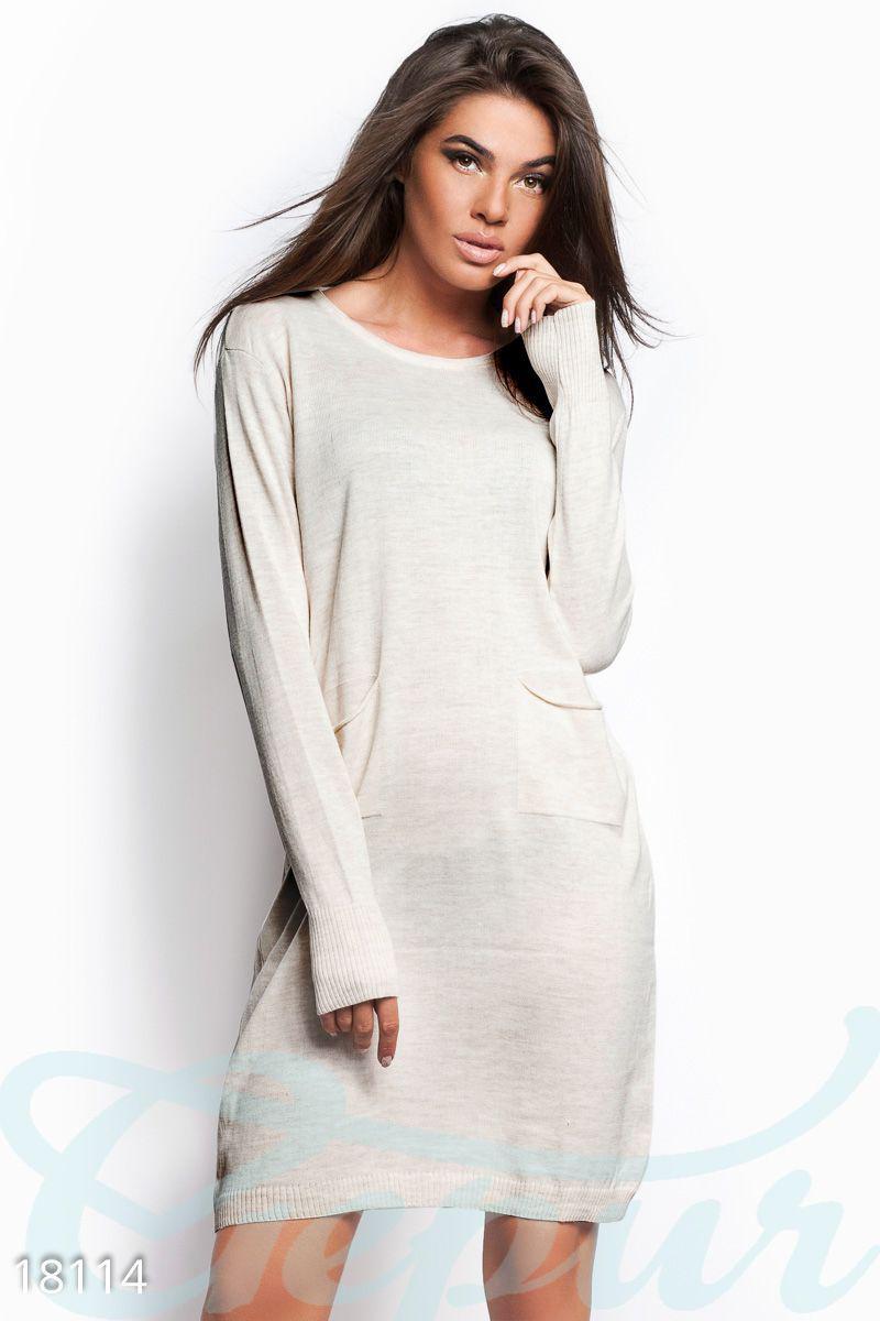 4922d8d18ae6516 Трикотажное платье оверсайз - Интернет-магазин одежды ТОПШОП в Мариуполе
