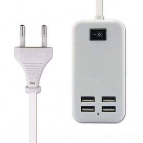 Адаптер блок питания зарядное устройство на 4 USB порта usb hub 220v