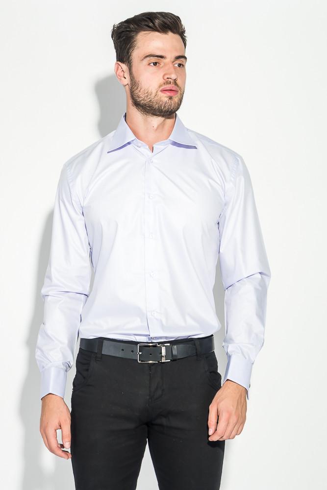 80838f0cc4fa402 Мужская рубашка, сорочка, с контрастными запонками 50PD0060  (Светло-сиреневый)