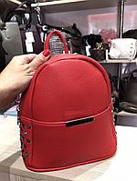 Красный рюкзачок из экокожи