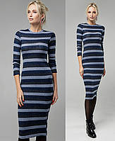 e2006790508 Теплое платье женское офисное демисезоное миди с длинным рукавом