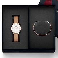 Набор Daniel Wellington Classic Petite Melrose женские часы + браслет DW копия, фото 1