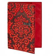 Кожаная обложка на паспорт Винтаж Red Придаст документам аккуратности надежности Интересный дизайн Код: КГ5882