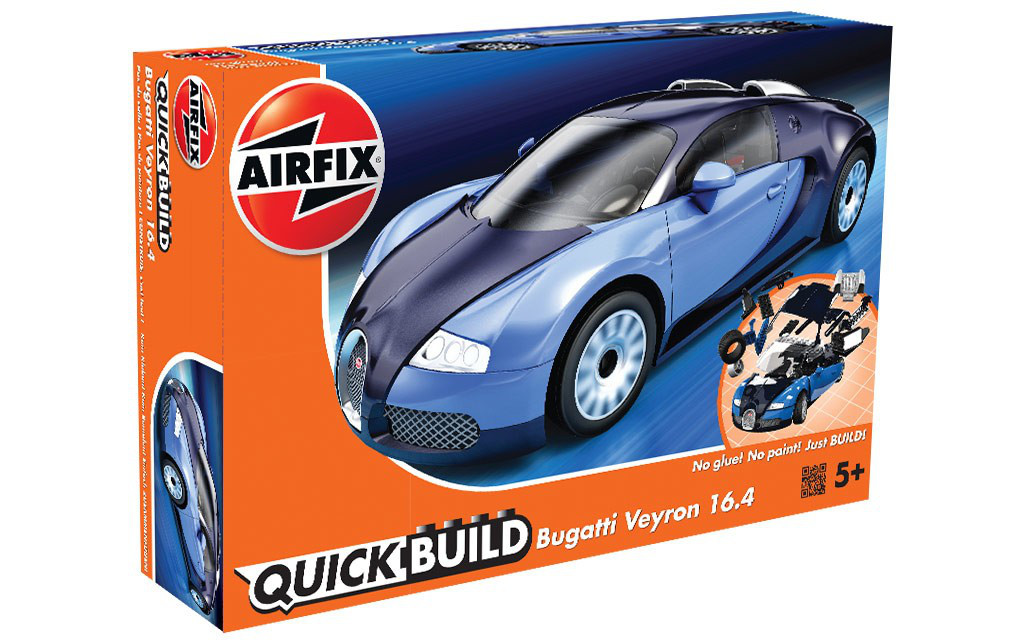 Bugatti Veyron. СБОРКА БЕЗ КЛЕЯ. AIRFIX J6008