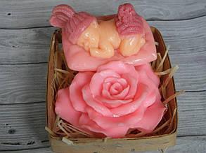 Мыло ручной работы Ребнок и роза