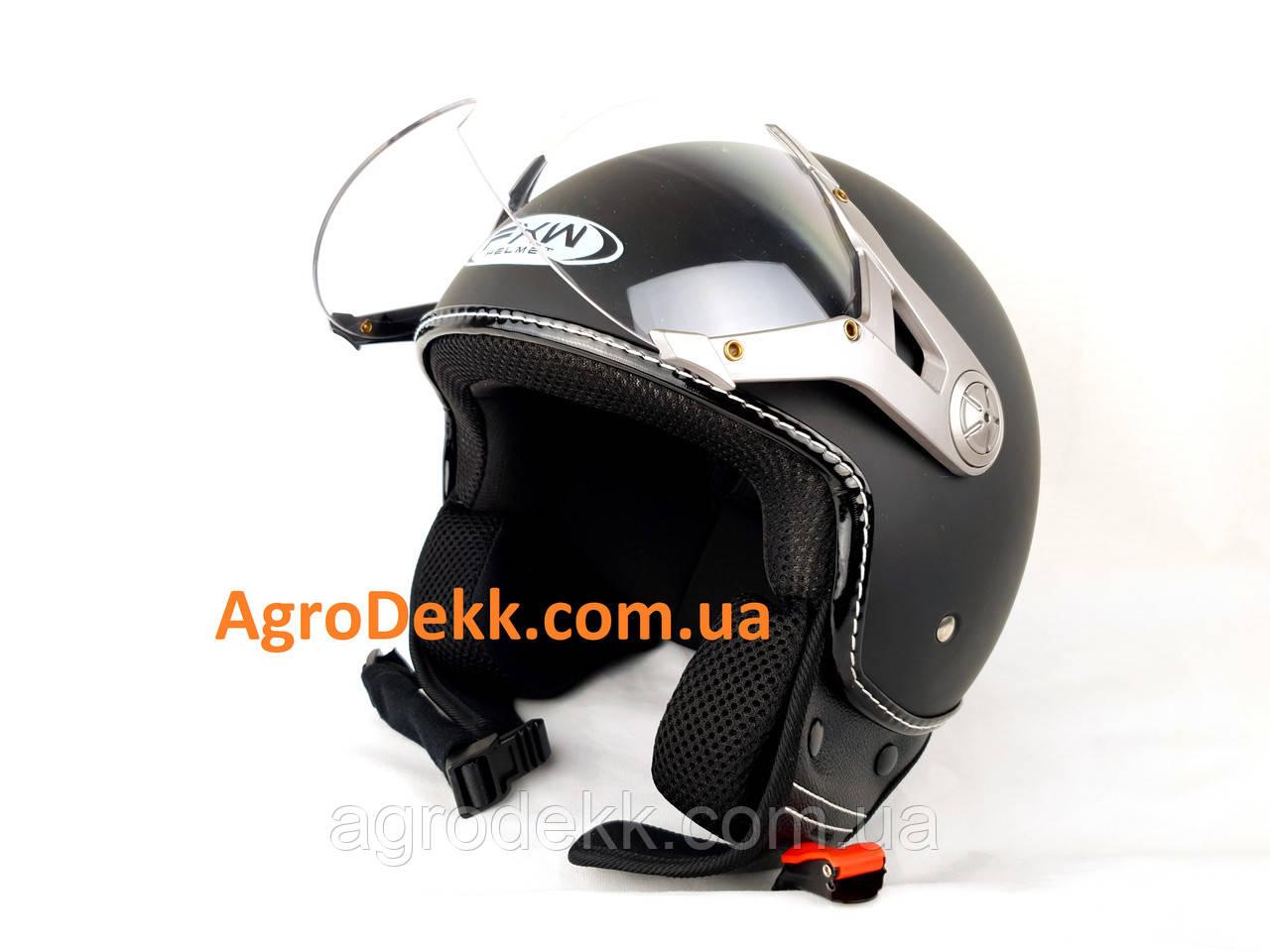"""Шлем для мотоцикла Hel-Met 225 чорный """"Каска"""""""