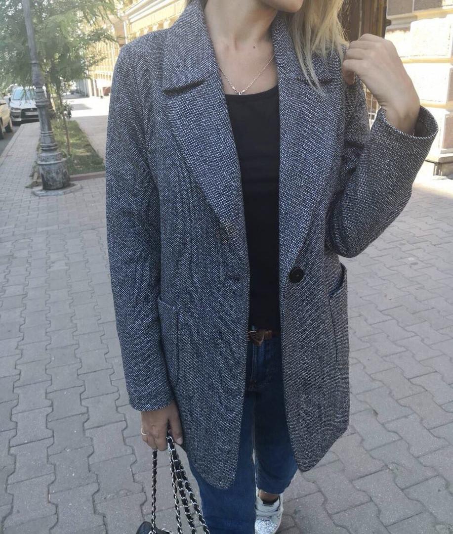 Женское демисезонное пальто oversize SMLXL