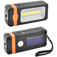 Фонарь кемпинг 8051-LM+COB, power bank, солнечная батарея, ЗУ micro usb, магнит, фото 1